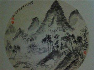 甘谷王进义国画山水作品