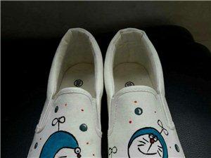 纯手绘,春天的帆布鞋