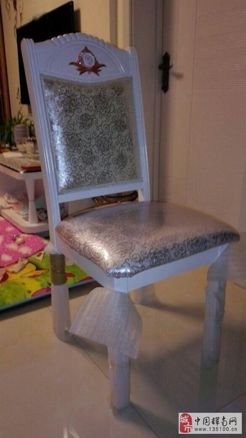 出售4个全新软包实木椅子