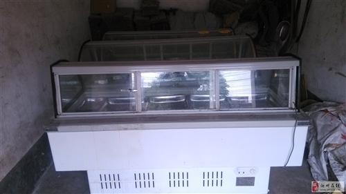 澳门威尼斯人在线娱乐三个9成新1米9单层凉菜熟食展示柜