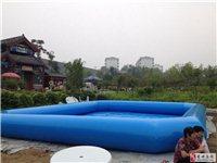 出售80平方充气游泳池一个