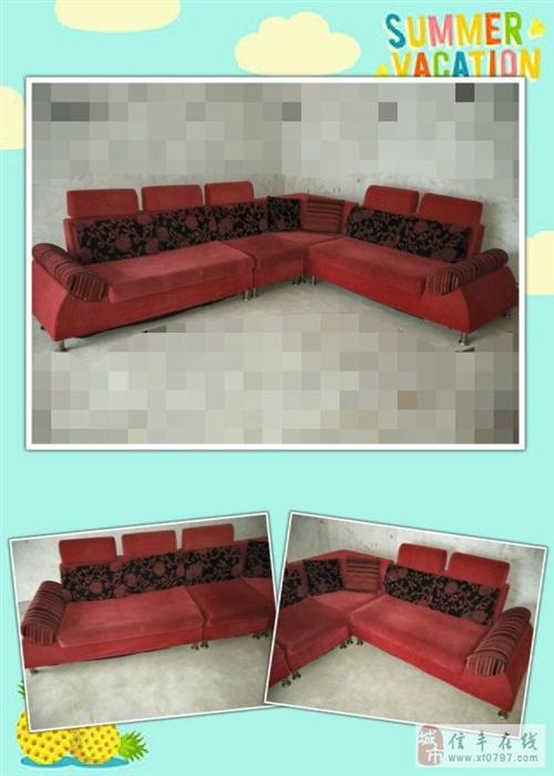 低价转让中国红组合沙发