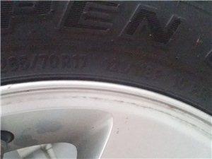 jeep轮胎带钢圈一起9.9成新
