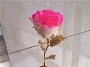 镀金玫瑰花,情人节礼物