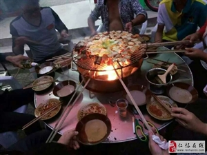 大漠燒烤,古法烤魚
