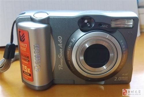 原装佳能canon Power ShotA40相机一套,95成新,相机质量保证完好无损,配件齐全,买...