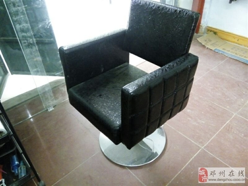 出售95成新理发店专用旋转皮沙发椅子