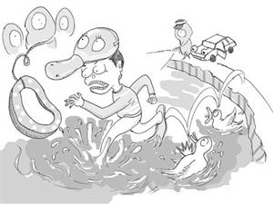 吉林白山临江边防派出所民警湍急水流中勇救人