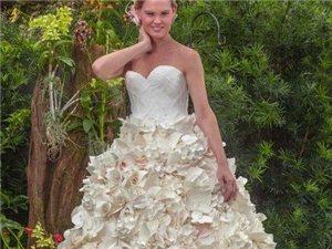 不敢相信这些婚纱是用纸巾做的?
