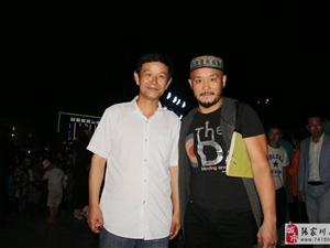 中国杰出影视演员吴越和张家川全友家居总经理李平年合影