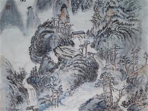 松溪幽居图(四尺生宣)