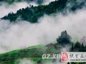 夏日从江加榜梯田云雾缭绕如仙境