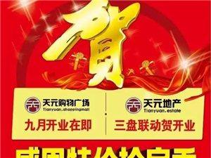 天元购物广场开业,三盘联动感恩特价抢房季!