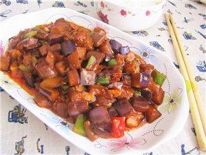 韩式辣酱爆茄丁