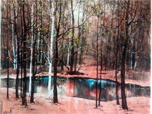 画家温俭阁的山水画