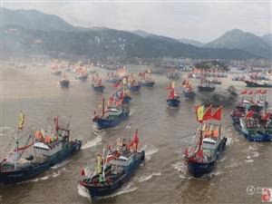 """浙江多地""""千舟竞发""""出海开渔 场面壮观"""