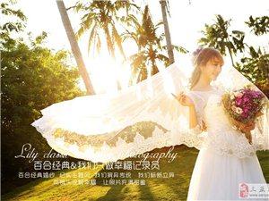 三亚时尚婚纱摄影-爱在日落时