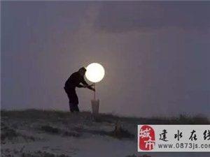 在建水这样的月亮你们见过吗?