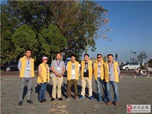 天湖爱心协会于28日在活动现场当义工