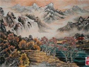 张笋国画山水大八尺