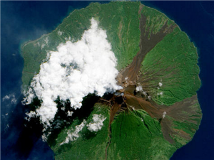 惊人之美! 从太空中看地球火山喷发