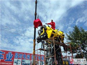 帅炸! 东营牛人打造6米高大黄蜂【图】