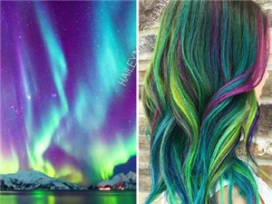 像星空一样绚丽的染色,不知每天顶着一头宇宙是怎样一种体验......