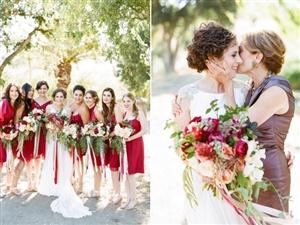 新娘脸颊一抹绯红 鲜活自然的石榴婚礼