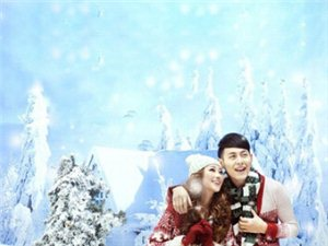 唯美冬季婚纱照欣赏 清新典雅洋溢温暖幸福