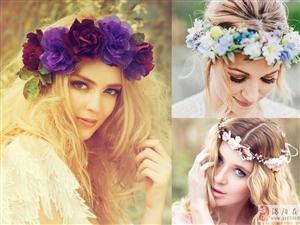 戴上一顶浪漫花冠 森系新娘造型美仙了
