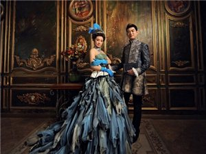 欧式复古宫廷婚纱照 优雅奢华的浪漫体验