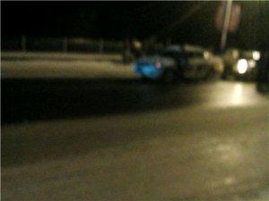 昨晚汝河桥上发生的交通事故。