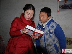 信阳光山;潘萍用爱心温暖付华松一家度过寒冷冬天