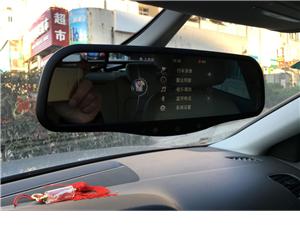 青岛盛辉飞歌科视奥迪智能后视镜凯立德导航蓝牙倒车后视行车记录仪
