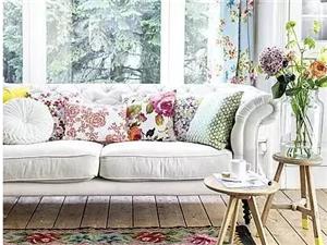 寒冷的冬日 沙发和地毯才最配