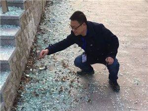 泗洪城南公园多处设施遭到恶意破坏对破坏公物行为绝不能无动于衷