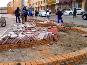 威尼斯人娱乐开户的凌西大街平和小区临街围墙终于扒了