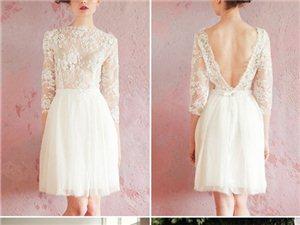 短款婚纱造型,今年最流行
