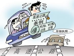 2016超速罚款标准出炉