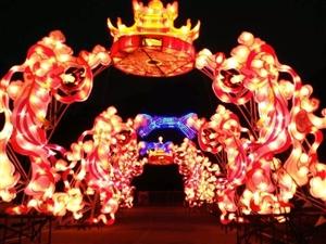 泰安人的福利 祈福灯会开始了