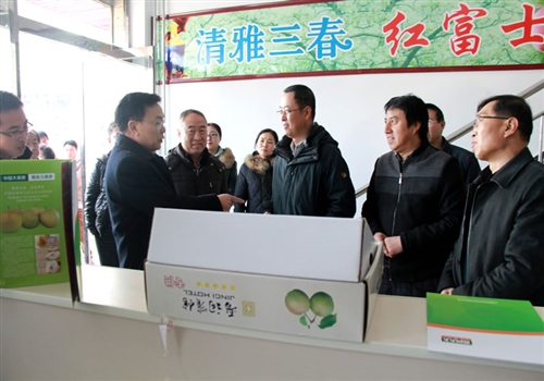 山西省农业厅陈明昌率队来789彩票电商孵化基地调研
