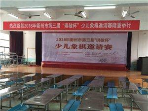 """2016年衢州市第三届""""琪敏杯""""少儿象棋邀请赛比赛现场已布置好"""
