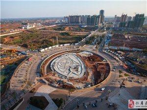 33楼上俯瞰仁寿城北新城城市框架初步形成
