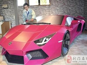 日本打造纸质车 兰博基尼运送实车展示