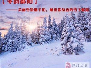 【晒雪景】美丽雪景随手拍,晒出你身边的雪下鄱阳