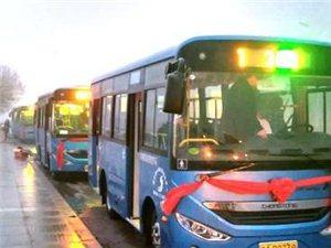 商河县首批纯电动城市公交开通运营