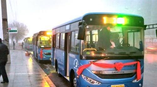 迅雷彩票县首批纯电动城市公交开通运营