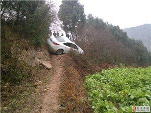 下雨路滑,弯道行驶,减速慢行!