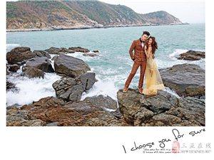 自信新娘拍婚纱照最美丽动人