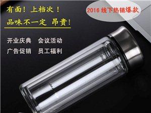 加汇双层玻璃杯厂家定制广告杯印LOGO